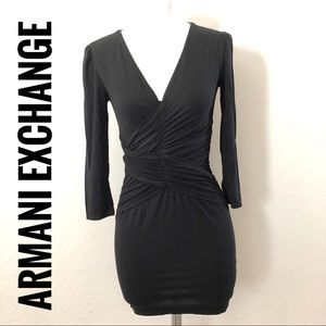 Armani exchange black long sleeve dress